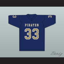 Kirkland Joseph 33 Independence Community College Pirates Dark Blue Football Jersey