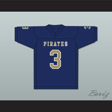 Malik Henry 3 Independence Community College Pirates Dark Blue Football Jersey