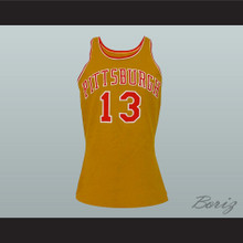 Pittsburgh Stew Johnson 13 Old School Basketball Jersey