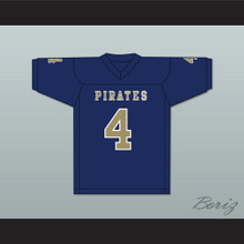 Markiese King 4 Independence Community College Pirates Dark Blue Football Jersey