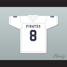 Delrick Abrams 8 Independence Community College Pirates White Football Jersey