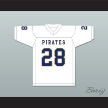 Jamal Scott 28 Independence Community College Pirates White Football Jersey
