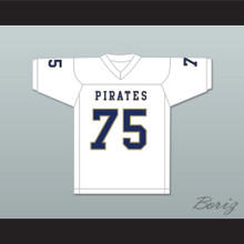 Kerry Buckmaster 75 Independence Community College Pirates White Football Jersey