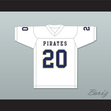 Kingston Davis 20 Independence Community College Pirates White Football Jersey