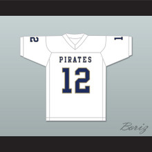 Malik Collins 12 Independence Community College Pirates White Football Jersey