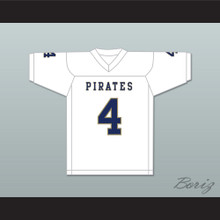 Markiese King 4 Independence Community College Pirates White Football Jersey