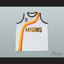 Vince Carter 15 Roswell Rayguns White Basketball Jersey