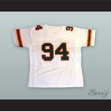 Dwayne Johnson 94 College Career White Football Jersey