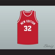 Ralph Tresvant 32 New Edition Red Basketball Jersey