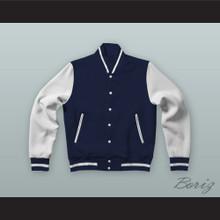 Brad Hamilton Dark Blue Varsity Letterman Jacket-Style Sweatshirt Fast Times at Ridgemont High