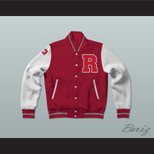 Charles Jefferson 33 Red Varsity Letterman Jacket-Style Sweatshirt Fast Times at Ridgemont High