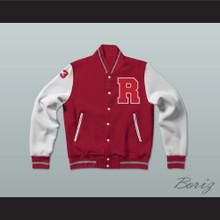 Charles Jefferson 33 Red Varsity Letterman Jacket-Style Sweatshirt Fast Times at Ridgemont High