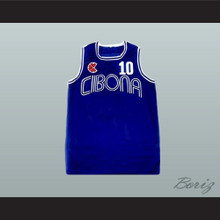Drazen Petrovic Cibona Blue Basketball Jersey