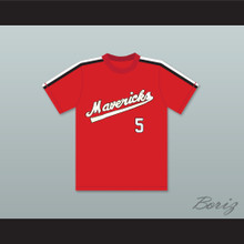 Jim 'Swannie' Swanson 5 Portland Mavericks Red Baseball Jersey The Battered Bastards of Baseball