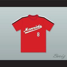 Frank Peters 8 Portland Mavericks Red Baseball Jersey The Battered Bastards of Baseball