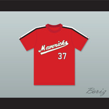 Gene Lanthorn 37 Portland Mavericks Red Baseball Jersey The Battered Bastards of Baseball