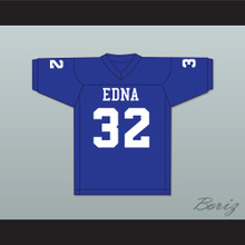 Steve Austin 32 Edna High School Cowboys Blue Football Jersey