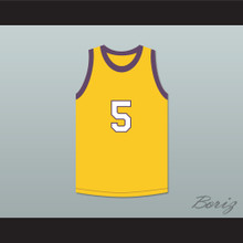 Saffron Johnson 5 Los Angeles Yellow Basketball Jersey MADtv Skit