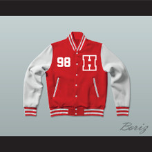 Hard Knock Life 98 Red Varsity Letterman Jacket-Style Sweatshirt