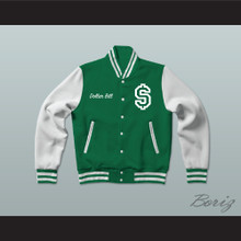 Dollar Bill Paid In Full Green Varsity Letterman Jacket-Style Sweatshirt
