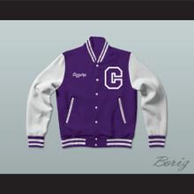 Sizzurp Team Codeine Lean Purple Varsity Letterman Jacket-Style Sweatshirt