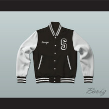Savage Science Center Black Varsity Letterman Jacket-Style Sweatshirt