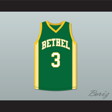 Allen Iverson 3 Bethel High School Bruins Green Basketball Jersey