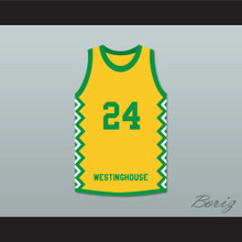 Mark Aguirre 24 George Westinghouse College Prep Warriors Basketball Jersey