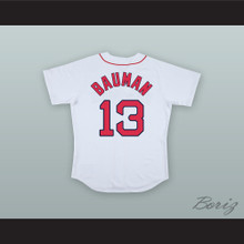 Jeff Bauman 13 Boston White Baseball Jersey Stronger
