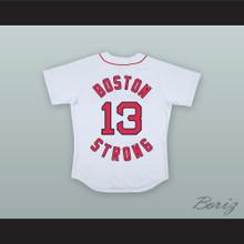 Jeff Bauman 13 Boston Strong White Baseball Jersey Stronger