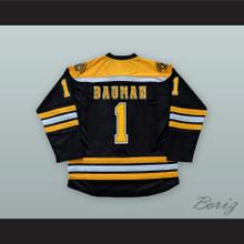 Jeff Bauman 1 Boston Black Hockey Jersey Stronger