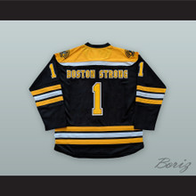 Jeff Bauman 1 Boston Strong Black Hockey Jersey Stronger