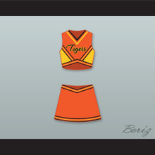 Carly Davidson Gerald R. Ford High School Tigers Cheerleader Uniform Fired Up! Design 1