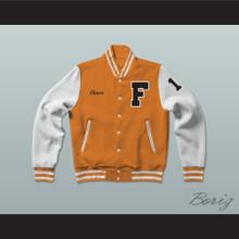 Shawn Colfax 17 Gerald R. Ford High School Tigers Varsity Letterman Jacket-Style Sweatshirt Fired Up!