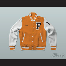 Nick Brady 10 Gerald R. Ford High School Tigers Varsity Letterman Jacket-Style Sweatshirt Fired Up!