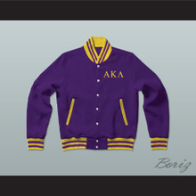 Alpha Kappa Lambda Fraternity Varsity Letterman Jacket-Style Sweatshirt