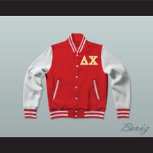 Delta Chi Fraternity Varsity Letterman Jacket-Style Sweatshirt