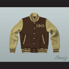 Iota Phi Theta Fraternity Varsity Letterman Jacket-Style Sweatshirt