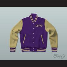 Omega Psi Phi Fraternity Varsity Letterman Jacket-Style Sweatshirt