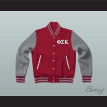 Phi Sigma Kappa Fraternity Varsity Letterman Jacket-Style Sweatshirt