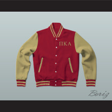 Pi Kappa Alpha Fraternity Varsity Letterman Jacket-Style Sweatshirt
