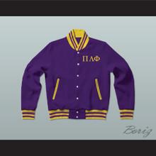 Pi Lambda Phi Fraternity Varsity Letterman Jacket-Style Sweatshirt