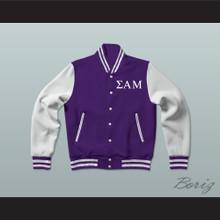 Sigma Alpha Mu Fraternity Varsity Letterman Jacket-Style Sweatshirt