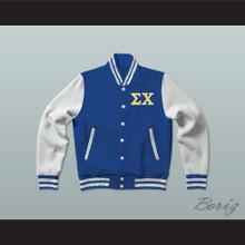 Sigma Chi Fraternity Varsity Letterman Jacket-Style Sweatshirt