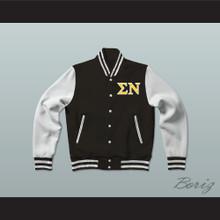 Sigma Nu Fraternity Varsity Letterman Jacket-Style Sweatshirt