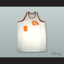 San Diego Travis Grant 5 White Basketball Jersey