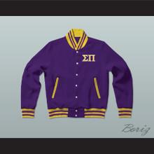 Sigma Pi Fraternity Varsity Letterman Jacket-Style Sweatshirt