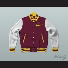 Theta Tau Fraternity Varsity Letterman Jacket-Style Sweatshirt