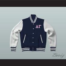 Delta Gamma Sorority Varsity Letterman Jacket-Style Sweatshirt