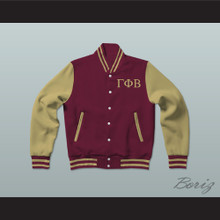 Gamma Phi Beta Sorority Varsity Letterman Jacket-Style Sweatshirt